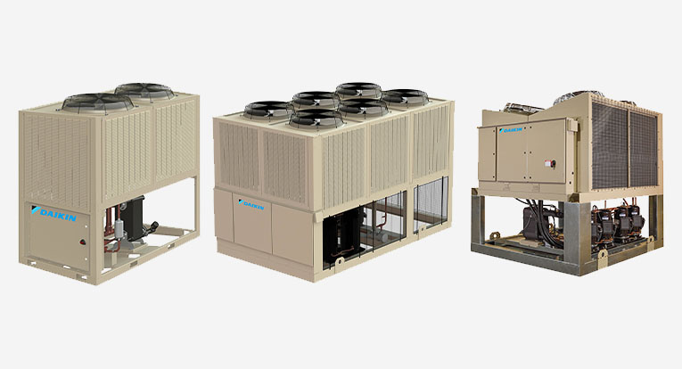 Tonnage Range for Air Cooled Chiller